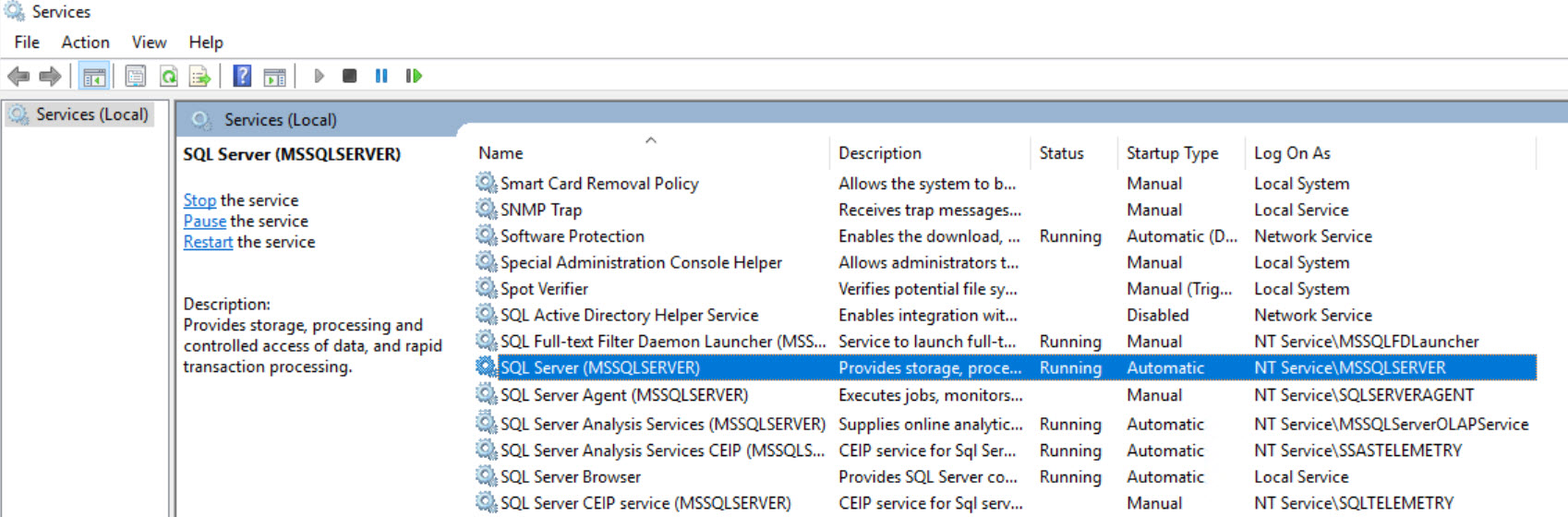 How to Find Service Account for SQL Server and SQL Server
