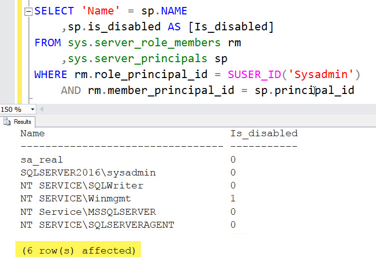 SQL SERVER - Query to Get the List of Logins Having System Admin (sysadmin) Permission who-sysadmin-03