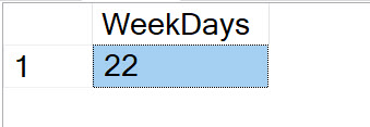 SQL SERVER - Find Business Days Between Dates BusinessDays