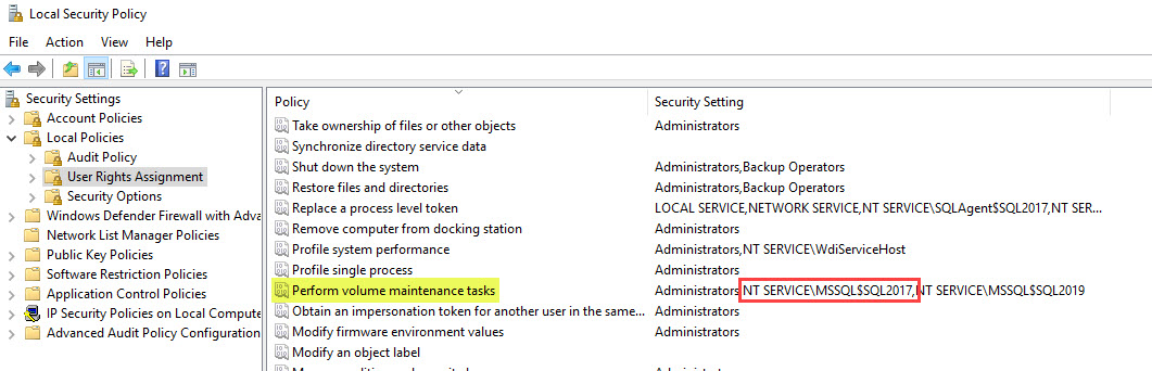 SQL SERVER 2019 - How to Turn On or Enable Instant File Initialization? SSCM-2019-IFI-02