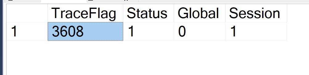 SQL SERVER - Checking Traceflag Status with TRACESTATUS TRACESTATUS1