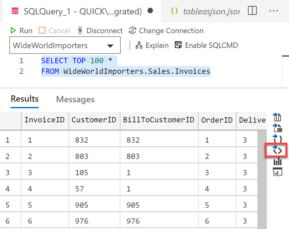 Azure Data Studio- Export Any SQL SERVER Query As JSON ads1