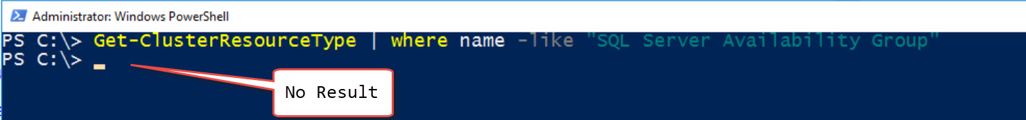 SQL SERVER - FIX: Msg 41105: Failed to Create the Windows Server Failover Clustering (WSFC) Resource With Name and Type 'SQL Server Availability Group' ao-type-err-02