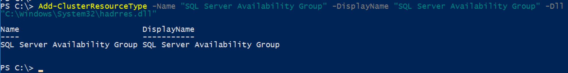 SQL SERVER - FIX: Msg 41105: Failed to Create the Windows Server Failover Clustering (WSFC) Resource With Name and Type 'SQL Server Availability Group' ao-type-err-03