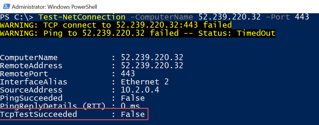SSMS - Azure Storage Error - A Connection Attempt Failed Because the Connected Party did not Properly Respond After a Period of Time az-storage-err-02