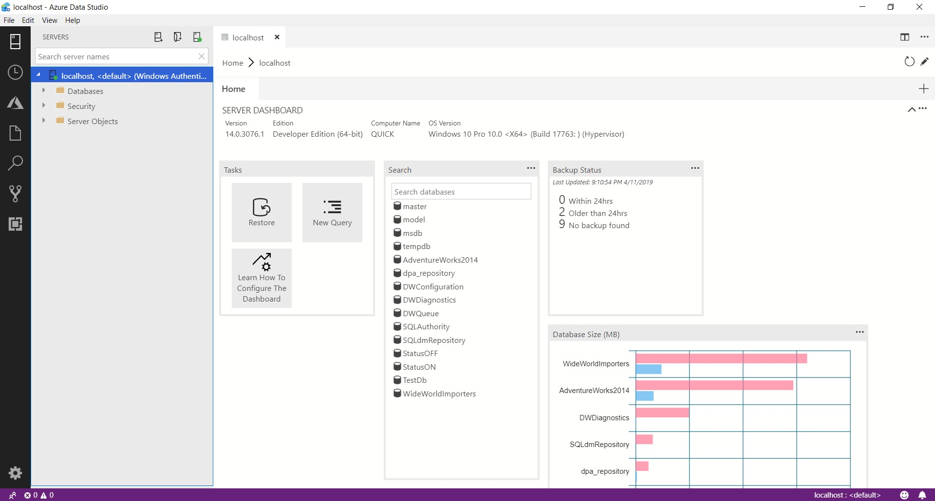 SQL SERVER - Getting Started with Azure Data Studio azuredatastudio10