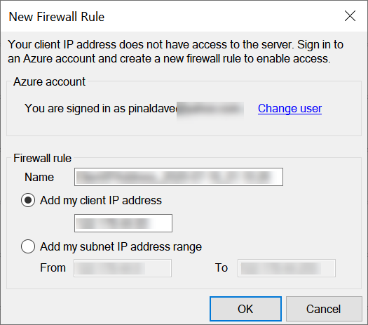 SQL Azure - Add IP Address to Firewall azureipaddress3