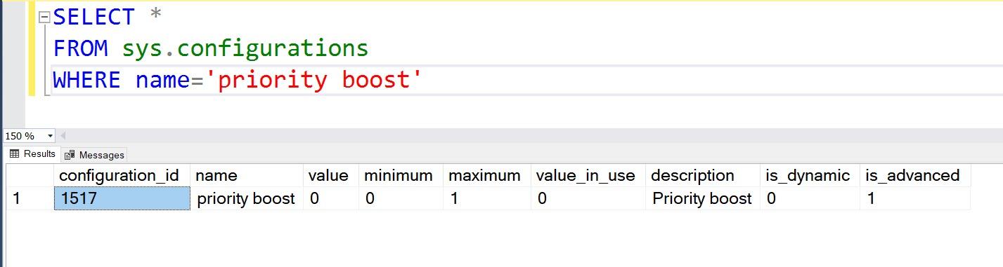 SQL SERVER - Priority Boost and SSMS 18 boostsqlserverpriority1