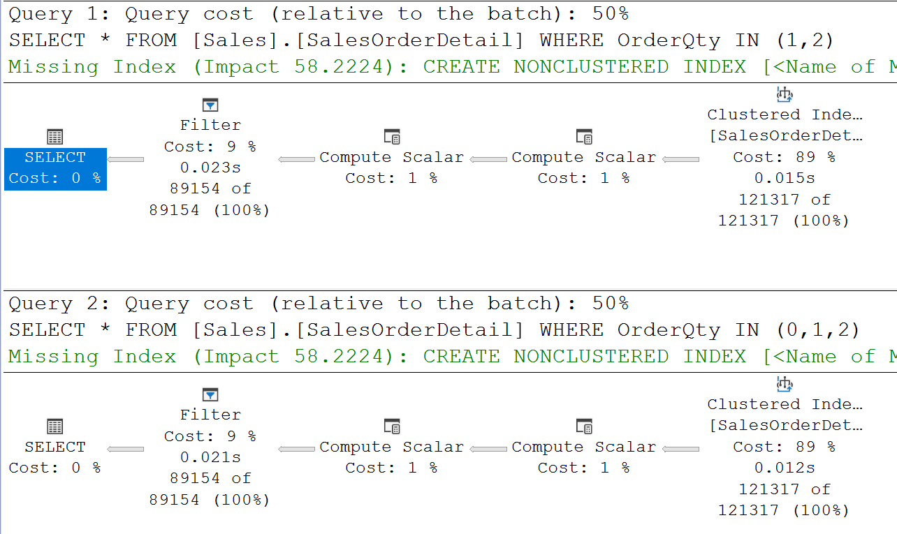 SQL SERVER - Same Result Same Query Plan - Different Entry in Cache cacheresult1