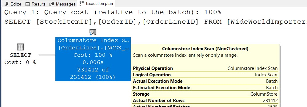 SQL SERVER - ColumnStore Indexes Without Aggregation columnstoreindexexe