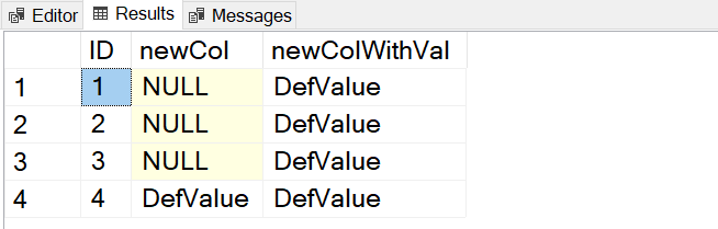 SQL SERVER - Adding Default Value to Existing Table default-value4