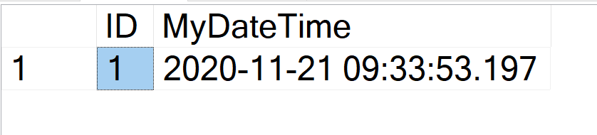 SQL SERVER - Capturing INSERT Timestamp in Table defaulttime