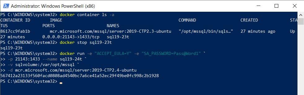 SQL SERVER - Docker Volume and Persistent Storage dockervolume7