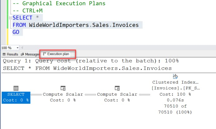 SQL SERVER - 3 Different Ways to Explore Actual Execution Plans executionplan3