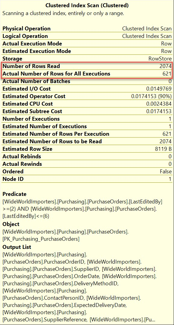 SQL SERVER - Number of Rows Read - Execution Plan first