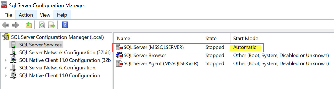 SQL SERVER - SQL Service Not Getting Started Automatically After Server Reboot While Using gMSA Account gMSA-auto-err-01