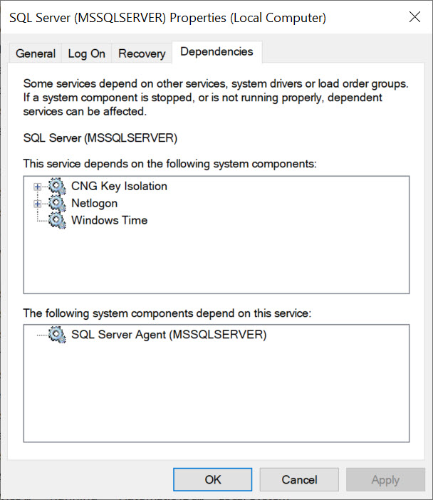 SQL SERVER - SQL Service Not Getting Started Automatically After Server Reboot While Using gMSA Account gMSA-auto-err-04