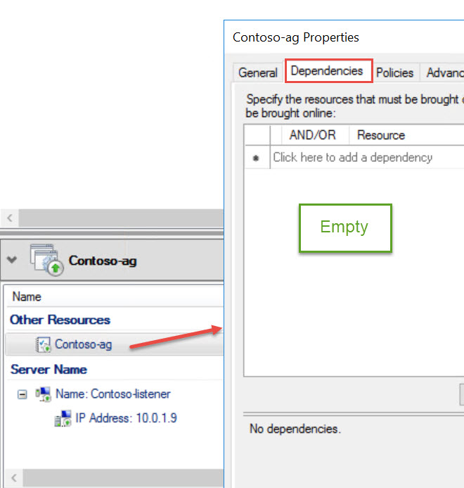 SQL SERVER - Always On Availability Group Listener Missing in SSMS but Working Fine in Failover Cluster Manager list-miss-03
