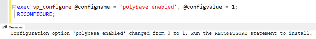 SQL SERVER - PolyBase Error Msg 46530 - External Data Sources Are Not Supported With Type GENERIC polybase-err-03