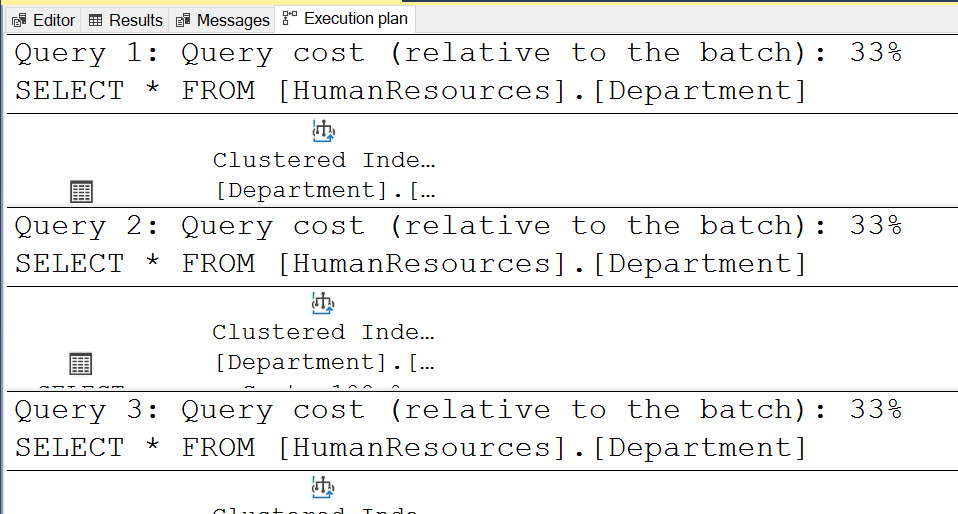 SQL SERVER - Query Cost 100% querycost2