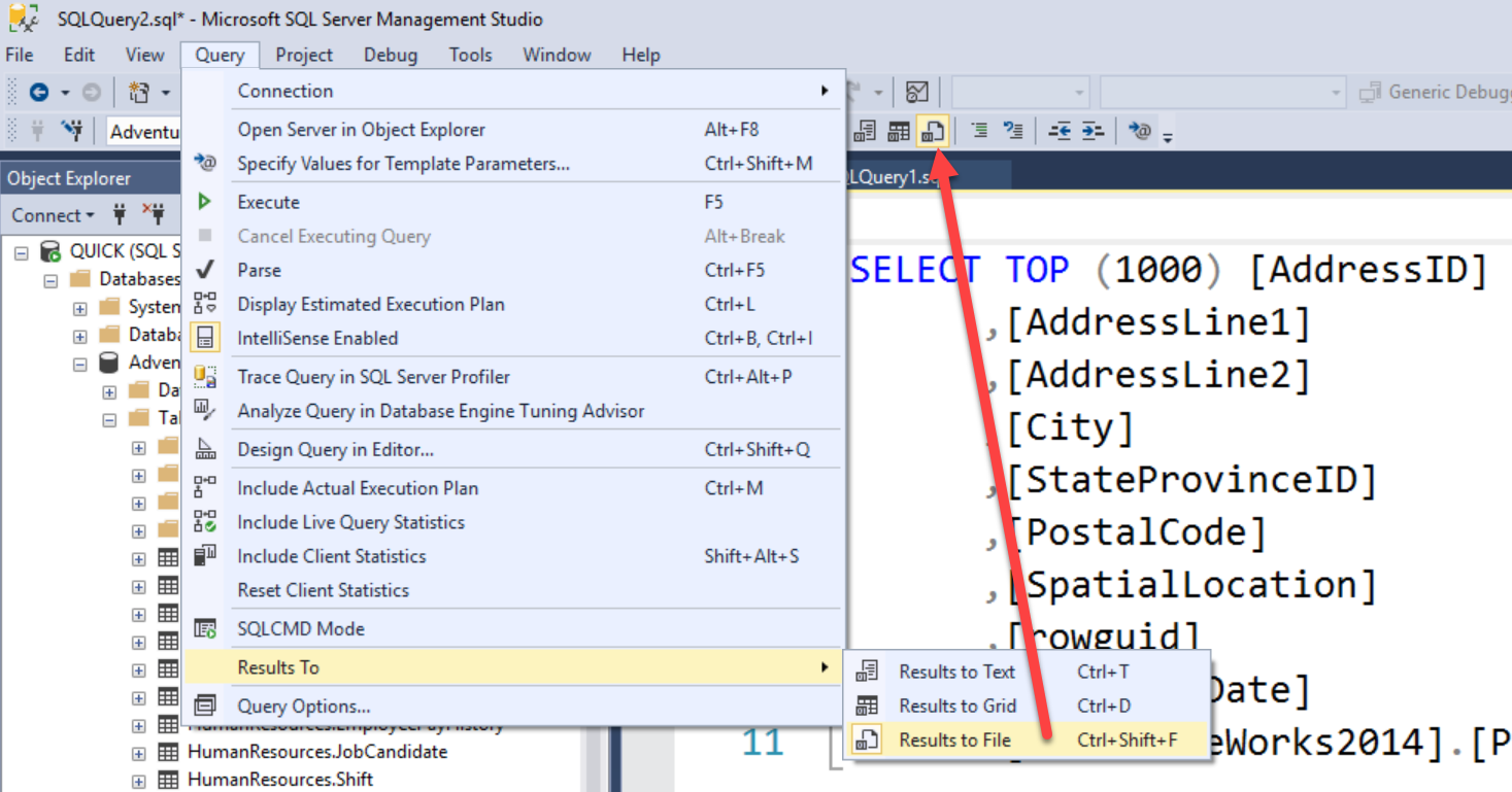 SQL SERVER - Export Data From SSMS Query to Excel - SQL Authority