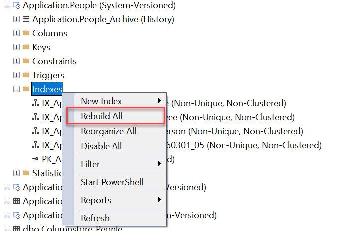 SQL SERVER Management Studio - Rebuild All Indexes on Table rebuild-all1