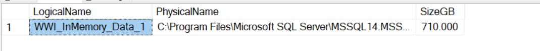SQL SERVER - Listing All Memory Optimized Files with Logical Name and Physical Name resultofin-memoryquery