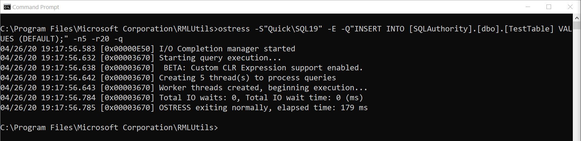 SQL SERVER - Stress Testing with oStress - Load Testing rml9