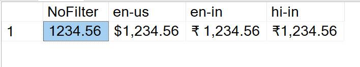 SQL SERVER - Display Rupee Symbol in SSMS rupee1