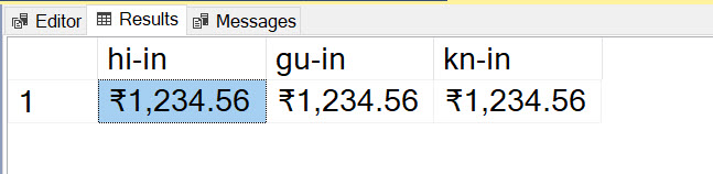 SQL SERVER - Display Rupee Symbol in SSMS rupee2