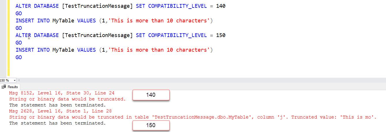 SQL SERVER 2019 - Still Getting String or Binary Data Would be Truncated sql2019-trunc-02