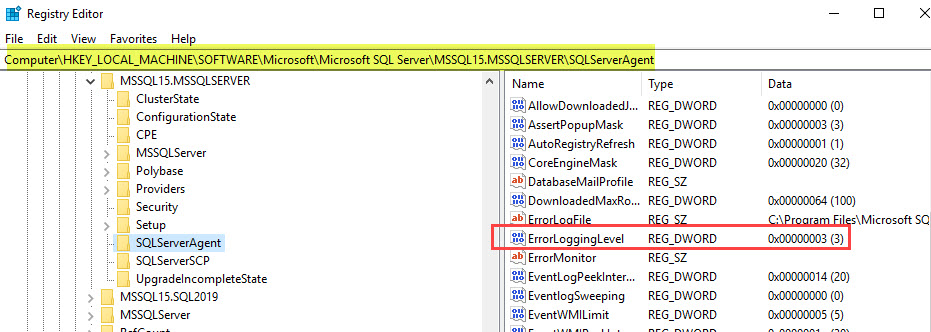 SQL SERVER - Enable Additional Logging for SQL Server Agent sqlagt-log-02