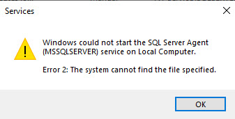 SQL SERVER - Event ID 7000 - The System Cannot Find the File Specified sqlagt-path-err-01