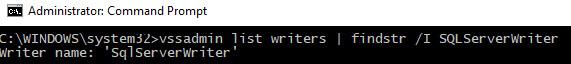 SQL SERVER - SqlServerWriter Missing in vssadmin List Writers Command sqlwriter-missing-01