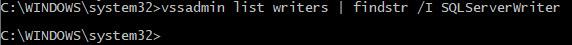 SQL SERVER - SqlServerWriter Missing in vssadmin List Writers Command sqlwriter-missing-02