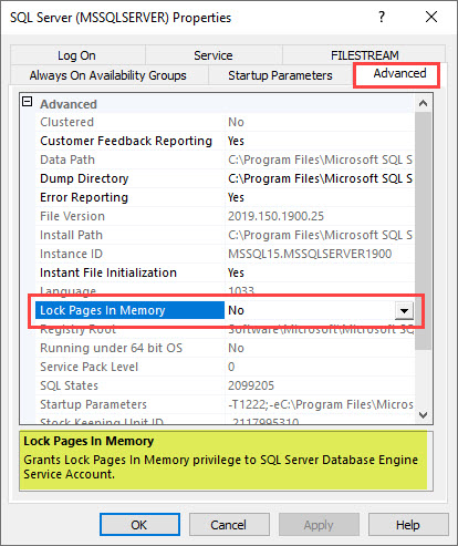 SQL SERVER 2019 - How to Enable Lock Pages in Memory LPIM? sscm-lpim-01
