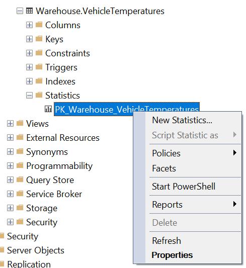 SQL SERVER Management Studio - Update Column Statistics Via SSMS ssms186-0