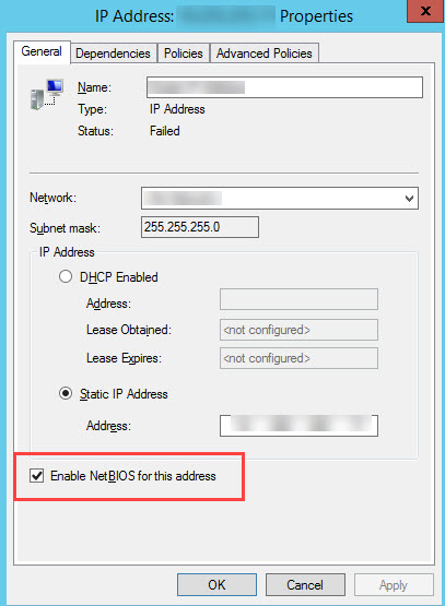 SQL SERVER - Always On Listener Not Coming Online - Failed to Create New NBT Interface, Status 1450 tcp-netbt-01
