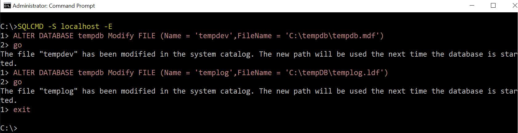 "SQL SERVER - FCB::Open Failed - TEMPDB Files Fail to be Created with Error: ""CREATE FILE Encountered Operating System Error 3"" temp-os-err-3-2"
