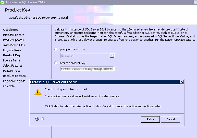 SQL SERVER - Upgrade Error: The Specified Service Does Not Exist as an Installed Service upd-err-ssrs-01