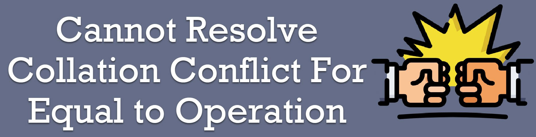 collation conflict