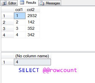 executenonquery return value select statement