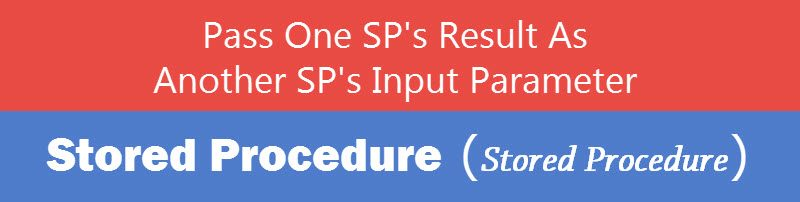 SQL SERVER - Pass One Stored Procedure's Result as Another Stored Procedure's Parameter spparamsp-800x202
