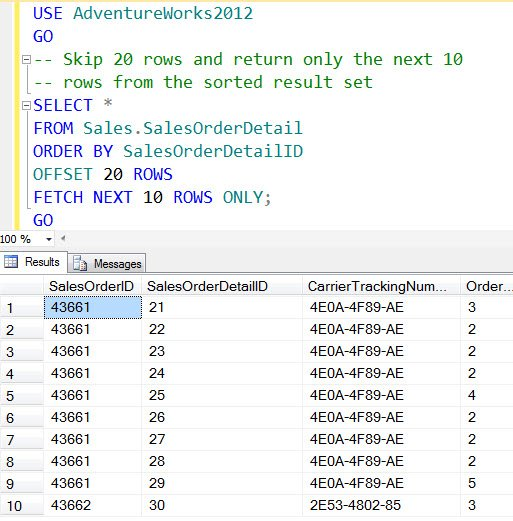 SQL SERVER - MySQL - LIMIT and OFFSET - Skip and Return Only Next Few Rows  - Paging Solution - SQL Authority with Pinal Dave