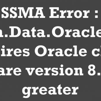 ssma error