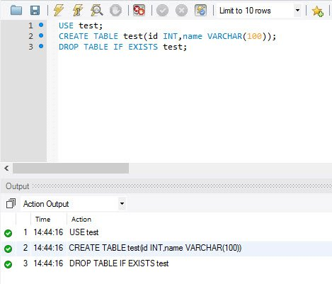 MySQL - How to Drop Table If Exists in Database? - SQL