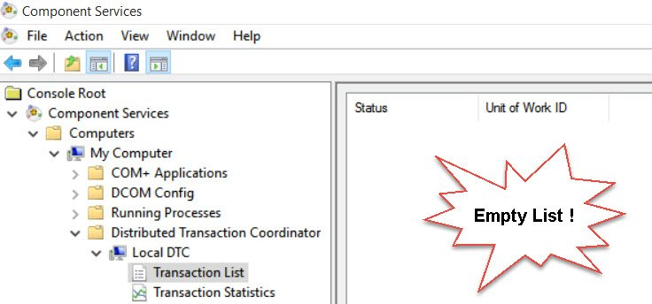 SQL SERVER - Detected a DTC/KTM in-doubt Transaction with UOW DTC-Suspect