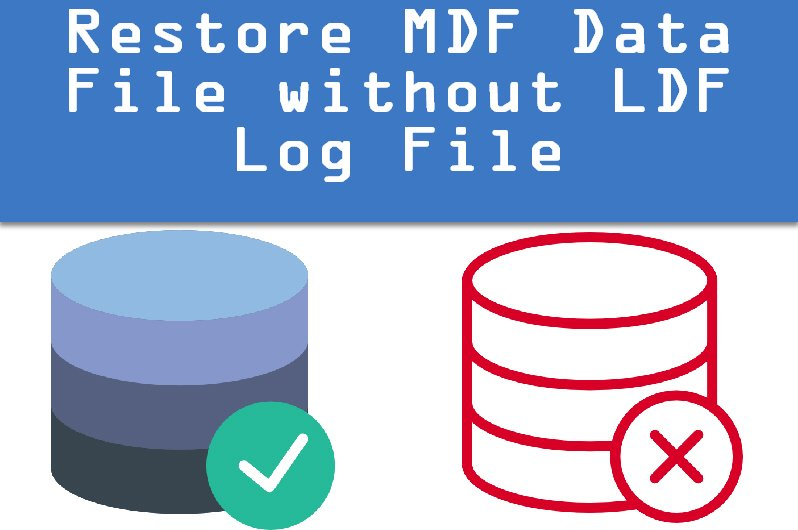 How to Attach MDF Data File Without LDF Log File - Interview Question of the Week #078 DatabaseWithoutLogFile0