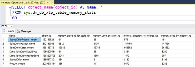 SQL SERVER - How to Find the In-Memory OLTP Tables Memory Usage on the Server adworks_InMemory-Steps-01-800x275