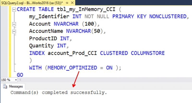 SQL SERVER - Creating Clustered ColumnStore with InMemory OLTP Tables inmemory-cci-01-800x430